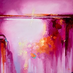 Pink Sunset III by Anna Gammans - Original Painting on Stretched Canvas sized 32x32 inches. Available from Whitewall Galleries